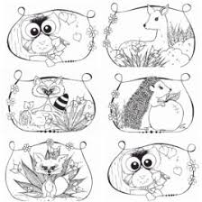 Woodland Animals At Christmas Coloring Pages