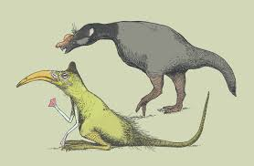 An Illustration Of Two Quasi Birds Dinosaur Like Things That Might