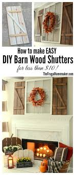How To Make EASY DIY Barn Wood Shutters For Less Than 10 Shutter Wall DecorRustic