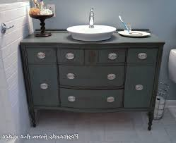 Distressed Bathroom Vanity Ideas by Dresser Made Into Bathroom Vanity Of Featuring Rectangular