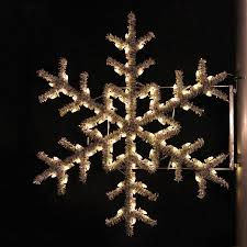 Shop Holiday Lighting Specialists 5 ft Garland Snowflake Pole