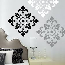 Wall Mural Decals Flowers by Damask Pattern Wall Decal Stickers Large Wall Stickers Set