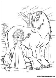 Princess Merida With Horse Coloring Pages