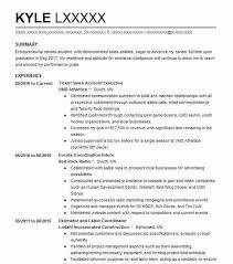 Ticket Sales Account Executive Resume Example UMD Athletics