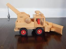 100 Fagus Trucks Unimog Basic Wooden Truck Plus Crane And Snowplow