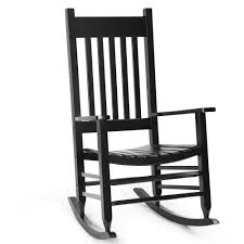 Solid Wood Rocking Chair Porch Rocker Indoor Outdoor Deck Patio Backyard  Black   EBay Durogreen Classic Rocker Black 3piece Plastic Outdoor Chat Set Presidential Recycled Wood Patio Rocking Chair By Polywood Shop Intertional Concepts Slat Seat Palm Harbor Wicker Grey At Home Trex Fniture Yacht Club Charcoal Americana Style Windsor Jefferson Woven With Tigerwood Weave Colby Cophagen Cushioned Rattan Armchair Glider Lounge Cushion Selections Chairs At Lowescom
