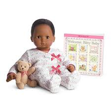 Amazoncom American Girl Bitty Baby Doll BB1 Dark Brown Hair Dark