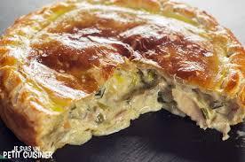 cuisine recette poulet recette land recette de tourte au poulet et aux chignons