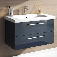badmöbel set neapel 2 tlg hochglanz anthrazit spiegelschrank waschbeckenschrank 80 cm