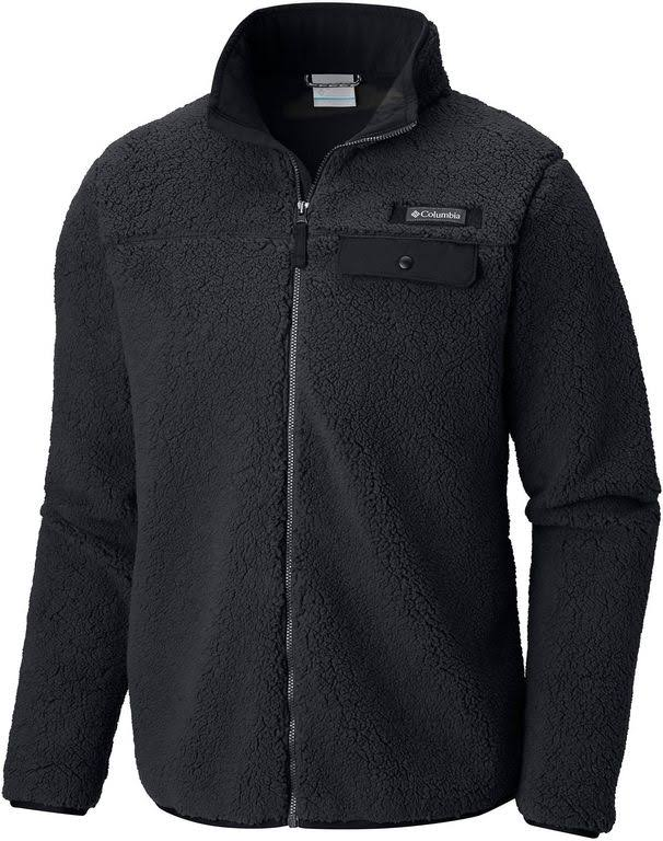 Columbia Men's Mountain Side Heavyweight Full-Zip Fleece - Black, M