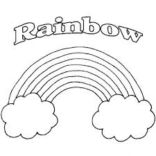Rainbow Color Page Printable Coloring Sheet For Kindergarten Pages Encourage