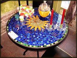clever mosaic tile table top stylish design for attractive centre