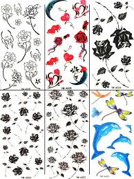 Free Shipping Girls Temporary Tattoo Waterproof Body Stickers Mix 12 Designs 60pcs