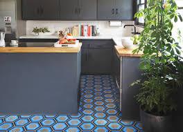blue hexagon floor tile robinson house decor installing