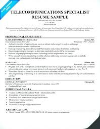 Telecommunications Manager Resume Useful Materials For