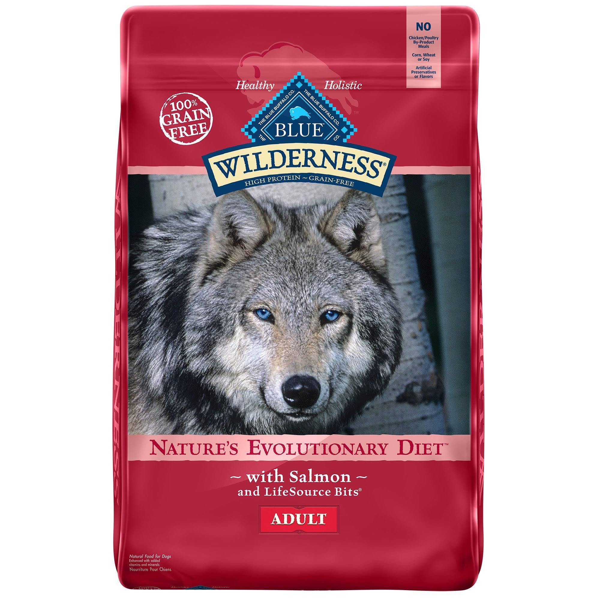 Blue Buffalo Wilderness Grain-Free Adult Natural Dog Food - Salmon Recipe, 24lb