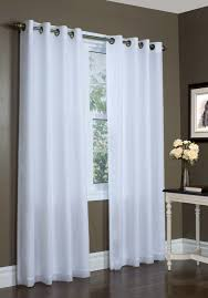 White Sheer Voile Curtains by Rhapsody Lined Grommet Top Curtain Thermavoile Panel European