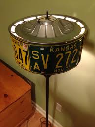 House Of Troy Grand Piano Floor Lamp by License Plate Hubcap Floor Lamp License Plate Creations