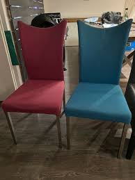 2 esszimmer stühle stoff farbig top zustand