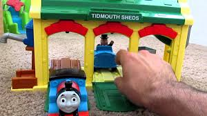 Trackmaster Tidmouth Sheds Playset by Thomas U0026 Friends Discover Junction Tidmouth Sheds Baby Toy Youtube