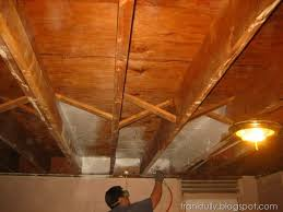 Using A Paint Sprayer For Ceilings by Frankfully Our Unfinished Basement