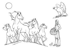 Horses Coloring Page Download Print Online Pages Spirit Horse Games