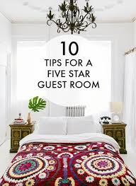 10 Tips For A Five Star Guest Room