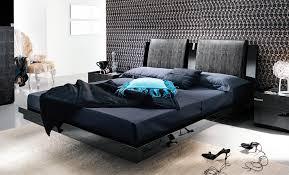 Bedroom Design Black Mirrored Queen Platform Bed Frame Wooden