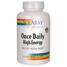 Solaray ce Daily High Energy 120 Caps Swanson Health Products