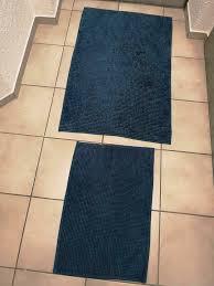 badematten badezimmer teppich blau