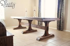 ana white triple pedestal farmhouse table diy projects
