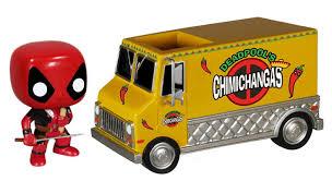 100 Megastore Truck Marvel Funko POP Rides Vinyl Figure Deadpools Chimichanga
