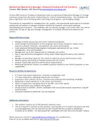 Gallery Of Distribution Supervisor Resume Call Center Manager With Data Sample And