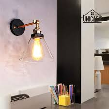 clear glass wall lights kitchen lobby bathroom antique wall