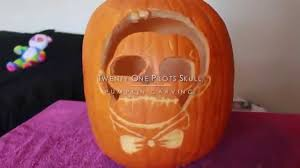Totoro Pumpkin Carving Ideas skull pumpkin carving twenty one pilots youtube