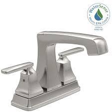Delta Windemere Bathroom Faucet Bronze by Delta Windemere 4 In Centerset 2 Handle Bathroom Faucet With