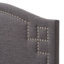 Leggett And Platt Upholstered Headboards by Baxton Studio Aubrey Modern And Contemporary Dark Grey Fabric