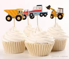 großhandel fahrzeug cupcake topper baufahrzeug jungen geburtstag dekorationen engineering lkw kuchen verzieren versorgung baby shower