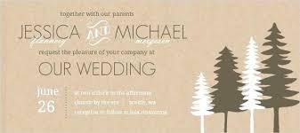 Elegant Rustic Tree Wedding Invitations Or Pine Trees Invitation 49 Oak