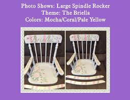 Large Spindle Wood Rocking Chair