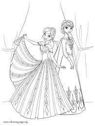 Frozen Coloring Pages Anna And Elsa 6