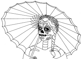 Free Art For Day Of The Dead Coloring