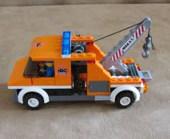 7638 Lego Complete City Traffic Tow Truck Town Orange Safety #LEGO ...