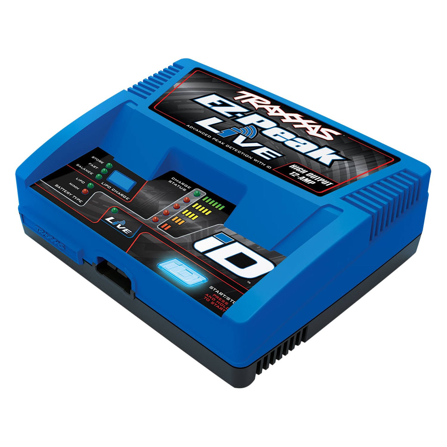 Traxxas Ez-peak Live Lipo NiMh LiPo Battery Charger - 12amp, 100W, with iD Auto Battery Identification