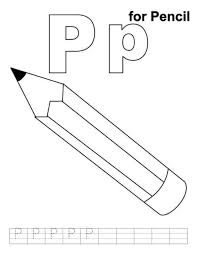 Download Free Printable Letter P Coloring Pages 4 Template For Kids Colouring Sheets Drawing