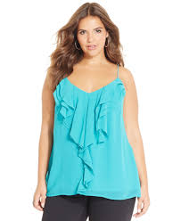 city chic plus size tiered ruffle tank top products pinterest