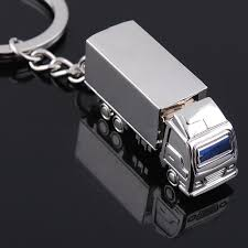 100 Wholesale Truck Accessories Car Keychain Zinc Metal Key Chain Solid Unisex Personalized