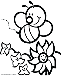 Bee Coloring Pages For Adults Printable Bumble Free Kids