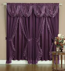 Lace Curtains Panels With Attached Valance by Amazon Com Victorian Style Bombay Curtain Set 120