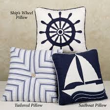 Sailboat Wheel Wall Decor by Nantucket Dream Decorative Pillows